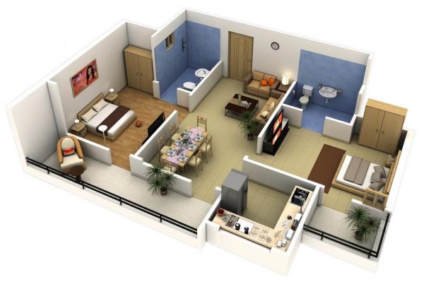 Преимущества трёхкомнатных квартир в Благовещенске