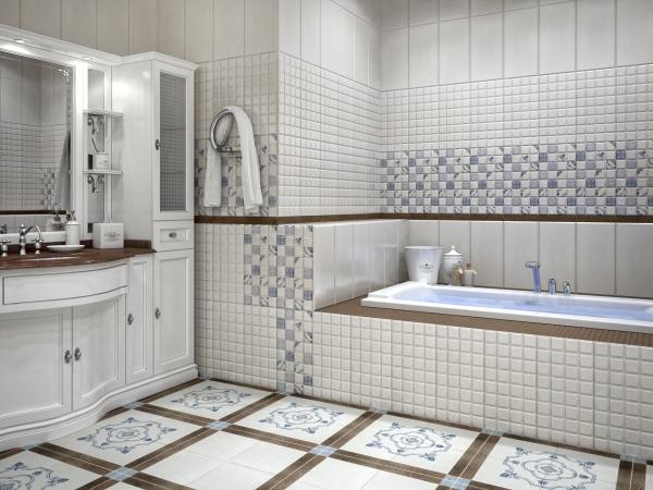 Кладка плитки в ванной комнате своими руками