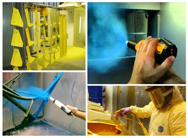 Порошковая окраска изделий из металла: особенности технологии, методы и преимущества